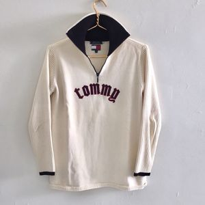 Tommy Hilfiger vintage sweater sz S some stains